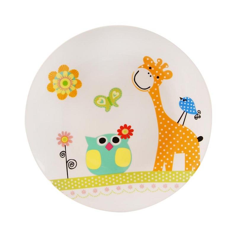 Tanier porcelánový plytký detský ŽIRAFA priemer 21 cm e39875eeb01